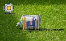 Handmade sheep wool square handbag  donkey - Product id: HANDBAGS09-09 Photo02