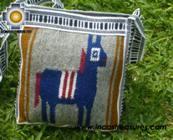Handmade sheep wool square handbag  donkey - Product id: HANDBAGS09-09 Photo01