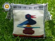 Handmade sheep wool square handbag songbird - Product id: HANDBAGS09-11 Photo02