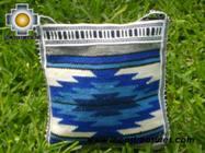 Handmade sheep wool square handbag sunset - Product id: HANDBAGS09-13 Photo02
