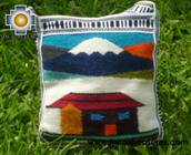 Handmade sheep wool square handbag volcano - Product id: HANDBAGS09-15 Photo02