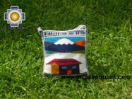 Handmade sheep wool square handbag volcano - Product id: HANDBAGS09-15 Photo01