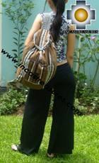 medium alpaca travel backpack BROWN - Product id: HANDBAGS09-41 Photo06