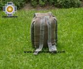 medium alpaca travel backpack marbling-beige - Product id: HANDBAGS09-42 Photo05