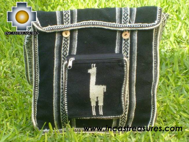 Andean Alpaca wool Handbag MESSENGER black - Product id: HANDBAGS09-43 Photo01