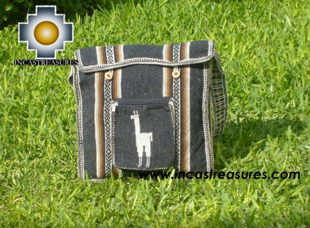 Andean Alpaca wool Handbag MESSENGER dark-grey - Product id: HANDBAGS09-44 Photo01