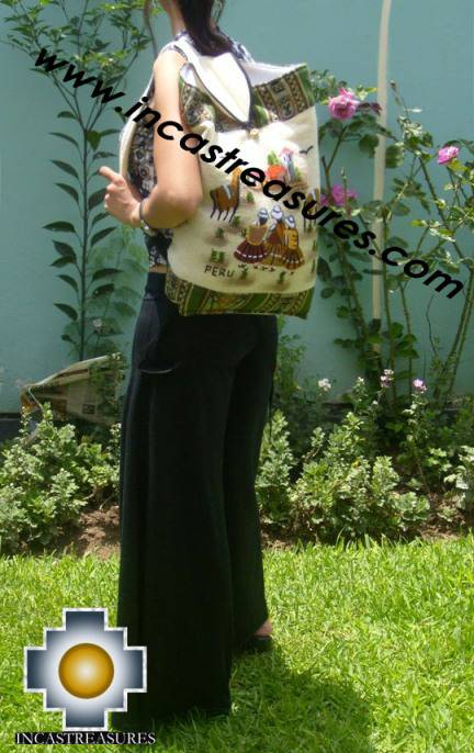 Beautiful Backpack with Incas culture borders journey   - Product id: HANDBAGS09-69