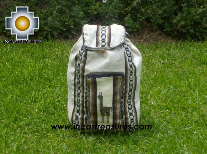 big alpaca travel backpack IVORY