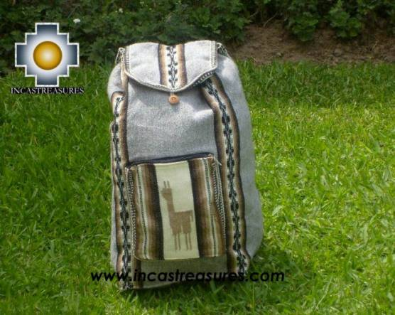 big alpaca travel backpack silver - Product id: HANDBAGS09-39