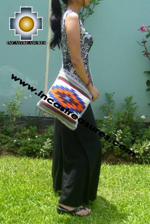 big Handmade sheep wool square handbag ENERGY - Product id: HANDBAGS09-24