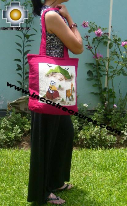 Handbag with handmade embroided GRAZING