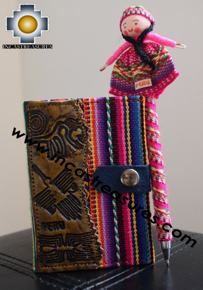 Handmade Andean Agenda Sinchi, PEN INCLUDED!