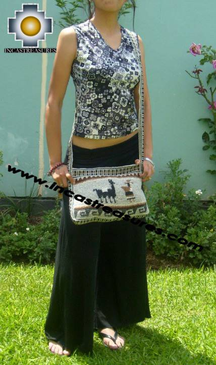 handmade handbag alpaca sheep ANDEAN LLAMA - Product id: HANDBAGS09-03 Photo04