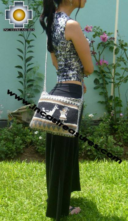 handmade handbag alpaca sheep ANDEAN night - Product id: HANDBAGS09-05 Photo04