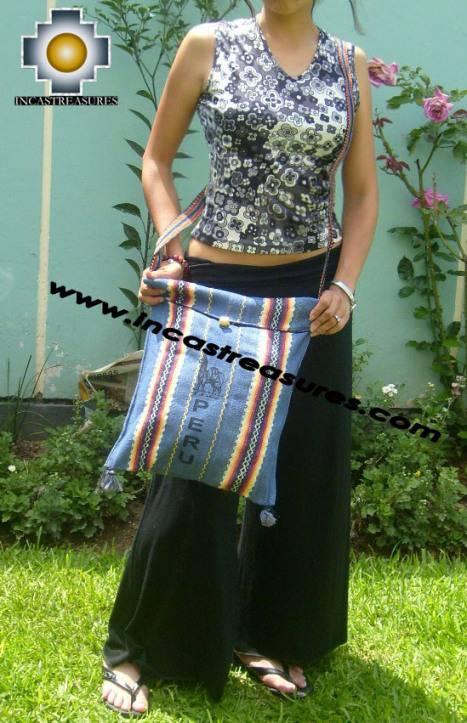 handmade handbag of bolivian blanket SKY