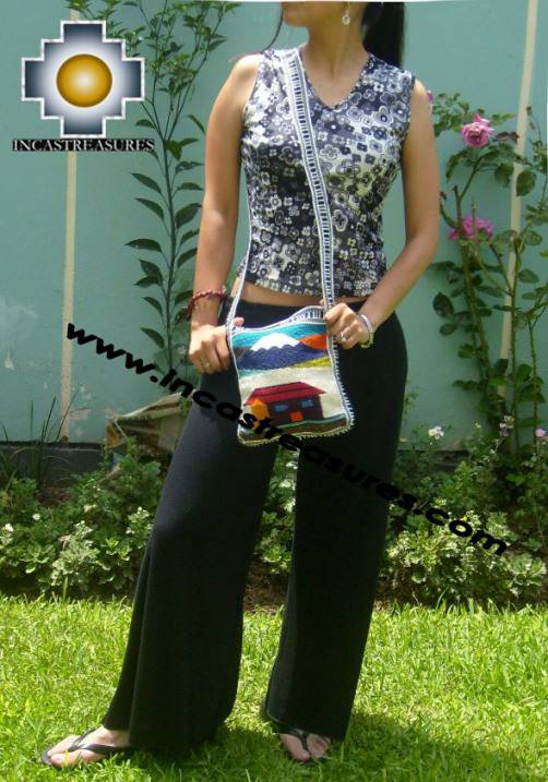 Handmade sheep wool square handbag VOLCANO