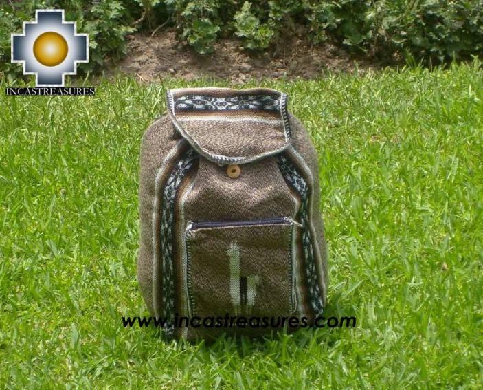 medium alpaca travel backpack MARBLING BEIGE
