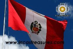 Peru Flag Big, sewn Nylon Peruvian Banner - Product id: home-decor13-02 Photo03