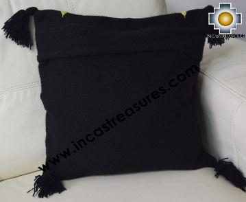 100% Alpaca Cushion Colibri Black - Product id: Alpaca-cushion16-01black Photo01