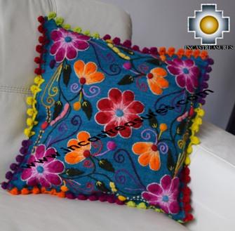 Sheep with Alpaca Cushion Cover Handmade Primavera Blue