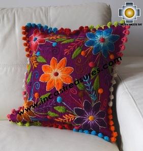 Sheep with Alpaca Cushion Cover Handmade Primavera Purple