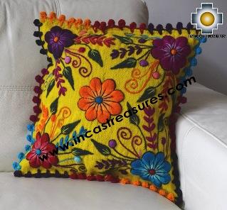 Sheep with Alpaca Cushion Cover Handmade Primavera Yellow