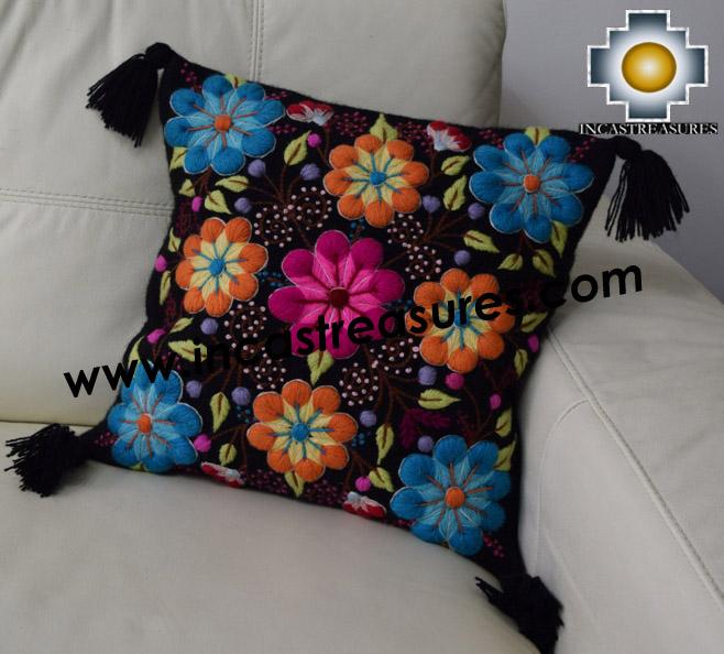 100% Alpaca Cushion Colibri Black - Product id: Alpaca-cushion16-01black