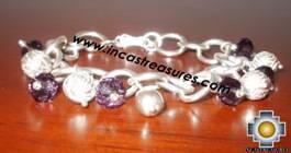 Silver jewelry Bracelet Roses Garden