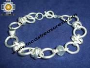 Jewelry 950 Silver hand knitted bracelet with river pearls - Product id: silver-Jewelry10-06 Photo01