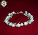 Silver jewelry Bracelet with river pearls