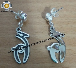 Jewelry 950 Silver Earrings Alpaca Paquita
