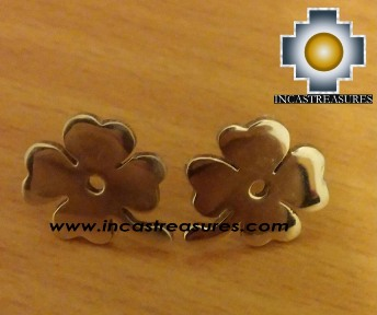 Jewelry Silver Earring Lucky Clover - Product id: Silver-Jewelry14-02 Photo02