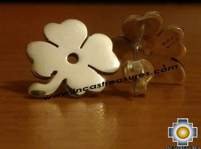 Jewelry Silver Earring Lucky Clover - Product id: Silver-Jewelry14-02 Photo03