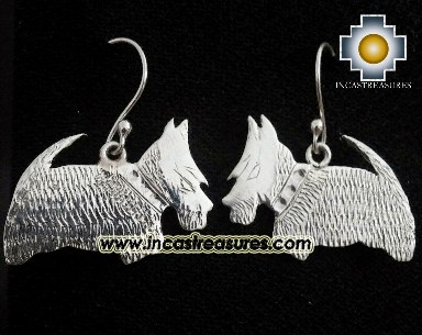 Jewelry Silver Earring Scottish Terrier Jock - Product id: Silver-Jewelry14-01 Photo02