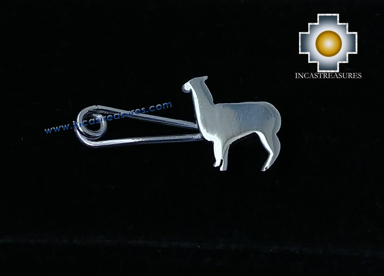 Jewelry 950 Silver Alpaca Pin Brooch - Kit of 10