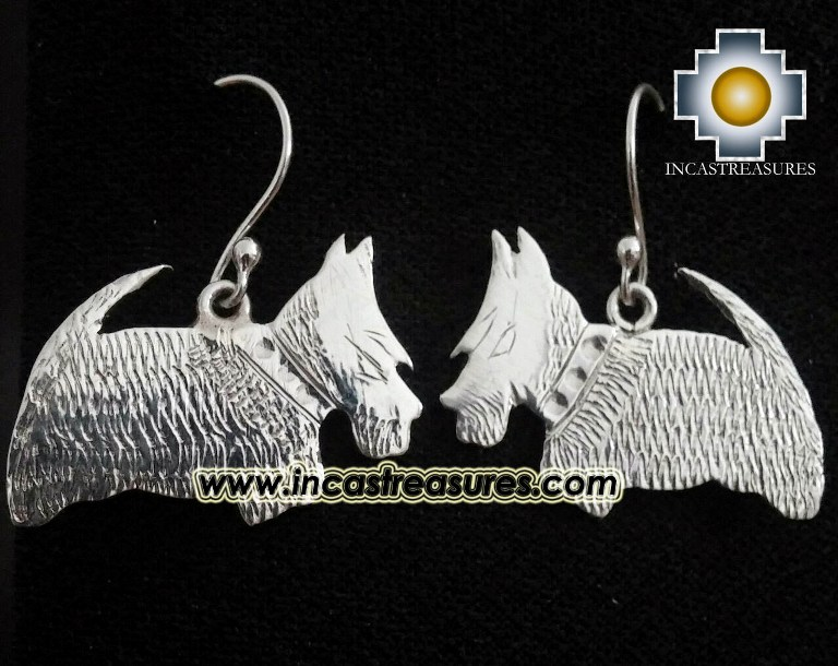 Jewelry Silver Earring Scottish Terrier Jock - Product id: Silver-Jewelry14-01