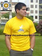 100% Pima Cotton Tshirt Llama Yellow - Product id: cotton-tshirt09-06 Photo03