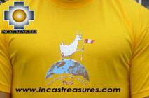 100% Pima Cotton Tshirt Llama Yellow - Product id: cotton-tshirt09-06 Photo02