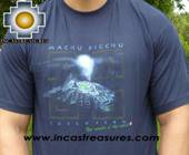 100% Pima Cotton Tshirt Blue Machu Picchu - Product id: cotton-tshirt09-08 Photo02