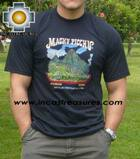 100% Pima Cotton Tshirt Machu Picchu - Product id: cotton-tshirt09-07 Photo01