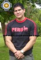 100% Pima Cotton Tshirt Peru Black - Product id: cotton-tshirt09-15 Photo03