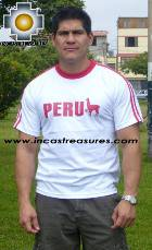 100% Pima Cotton Tshirt Peru White - Product id: cotton-tshirt09-26 Photo01