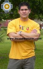 100% Pima Cotton Tshirt Peru Yellow - Product id: cotton-tshirt09-27 Photo03