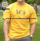 100% Pima Cotton Tshirt Peru Yellow - Product id: cotton-tshirt09-27 Photo01