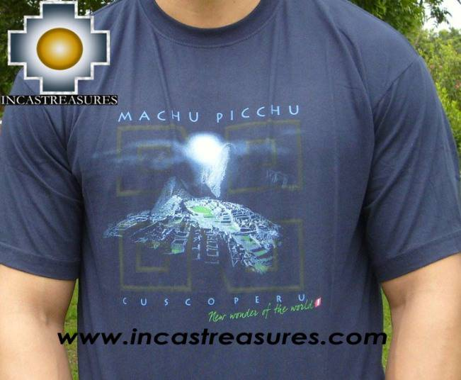 Cotton Tshirt -  Blue Machu Picchu