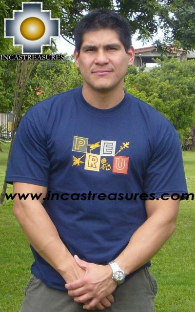 Cotton Tshirt -  Nazca in Blue