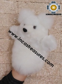 Alpaca Puppet Teddy Bear Selva - 100% Baby Alpaca - Product id: PUPPET16-01 Photo03