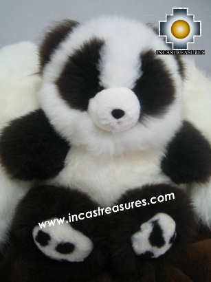 Alpaca Stuffed animal Andrew Panda - 100% Baby Alpaca