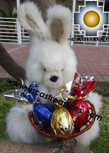 Alpaca stuffed easter bunny chocolate eggs - 100% Baby Alpaca - Product id: TOYS12-06 Photo04