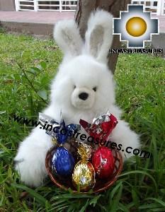 alpaca-stuffed-easter-bunny-chocolate-eggs - 100% Baby Alpaca - Product id: TOYS12-06 Photo05